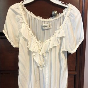 White Abercrombie Kids Blouse